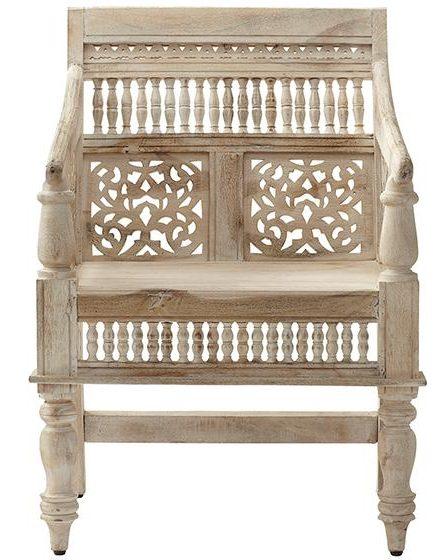 sandblasted white chair