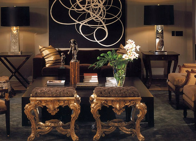 Black white and gold living room Gold and black living room ideas