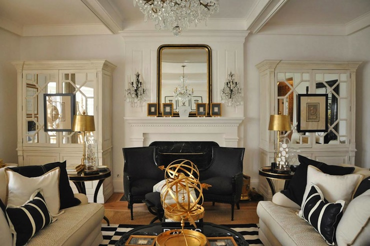 Black and gold dining rooms design ideas for house for Black and gold room