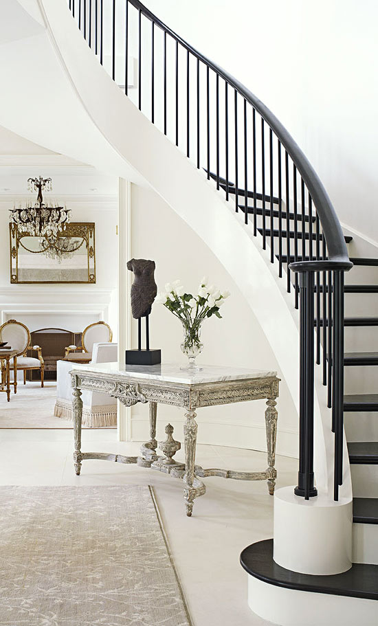 Using metal colors in interior design and home decor places in the home - Give home signature look elegant balustrades ...