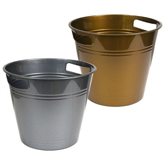 metallic-buckets