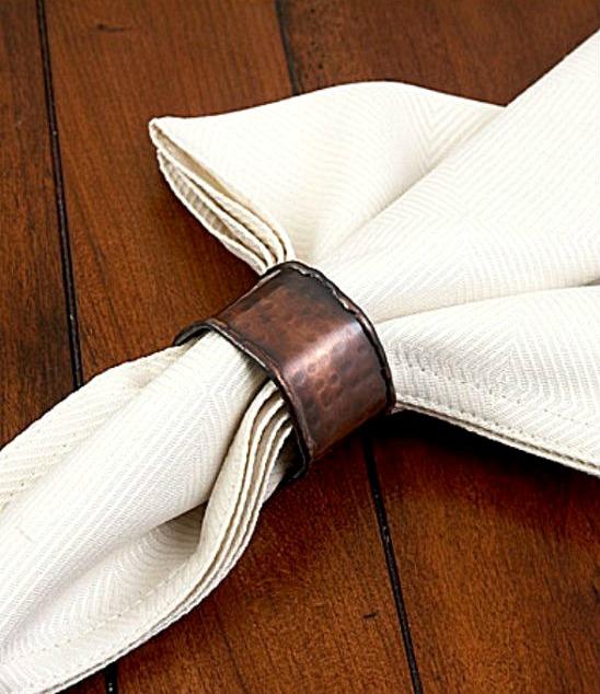 copper-hammered-napkin-ring