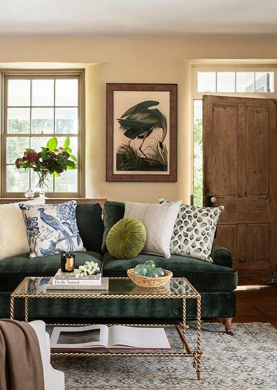 cozy-fall-decor-greens-blues