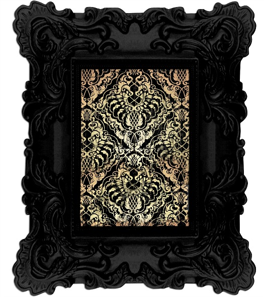 black-baroque-picture-frame