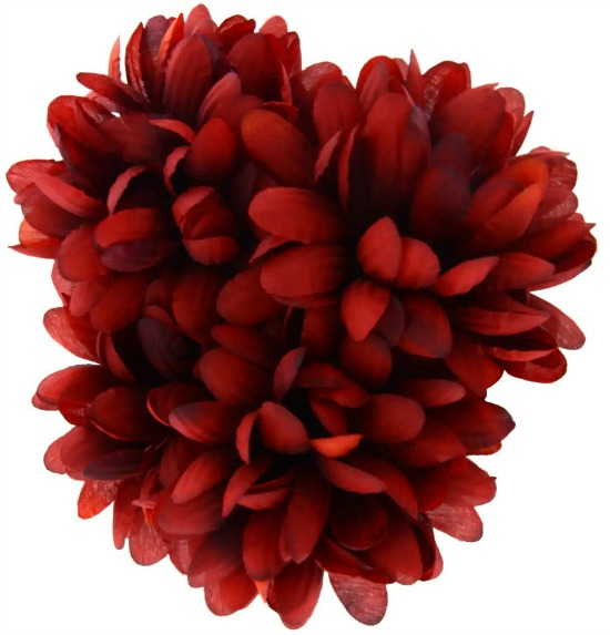 faux red mums