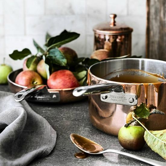 williams-sonoma-professional-copper-saucepan