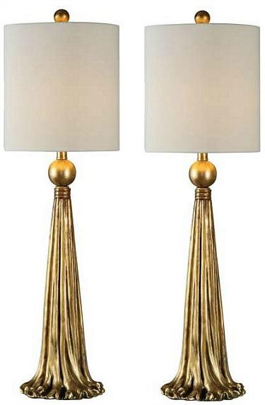 gold buffet lamps
