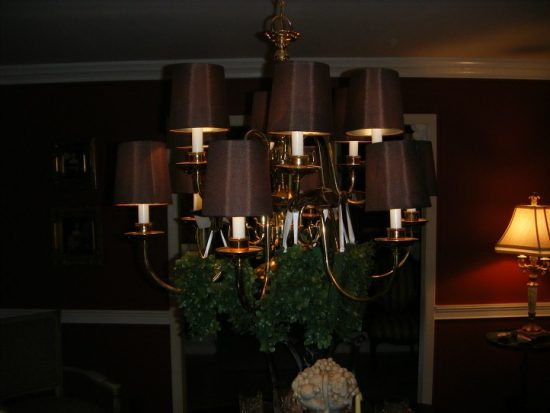 decorated light fixture