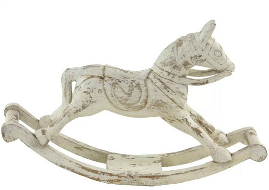 Vicknair Distressed Rocking Horse Wood Figurine
