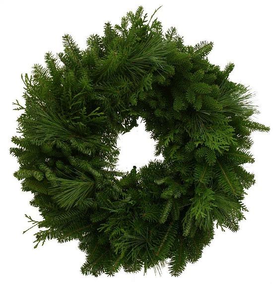 Balsam Mixed Greens Fresh Wreath