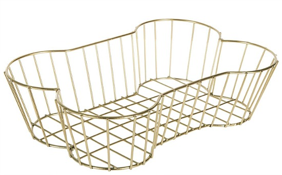 Gold Wire Bone Metal Basket