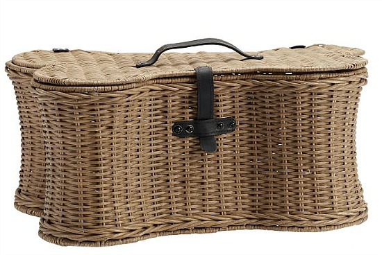 Pet Woven Rattan Bone Toy Basket