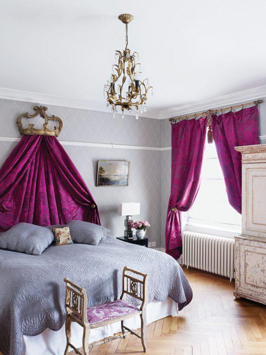 purple-bedroom-with-bed-crown