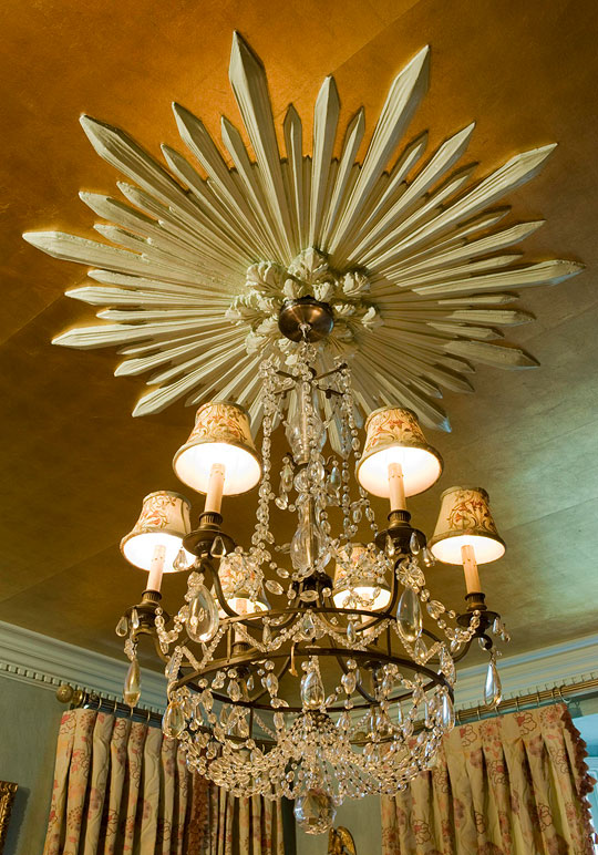 gold leaf ceiling