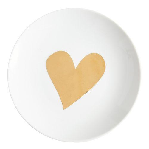 Golden Heart Plate