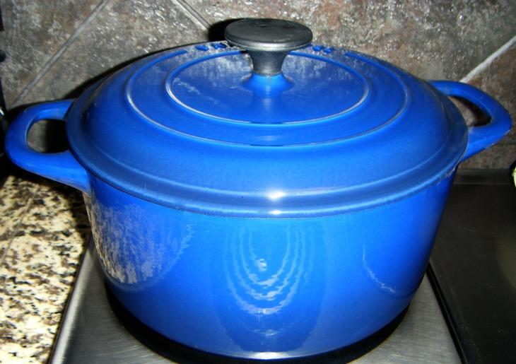 cobalt blue cast iron dutch oven
