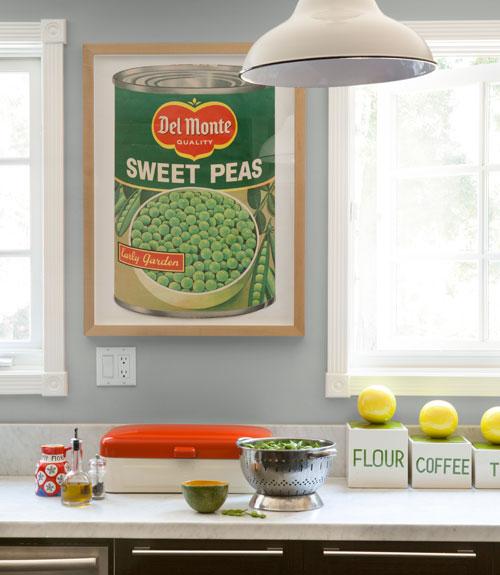 Del Monte Sweet Peas framed supermarket ad
