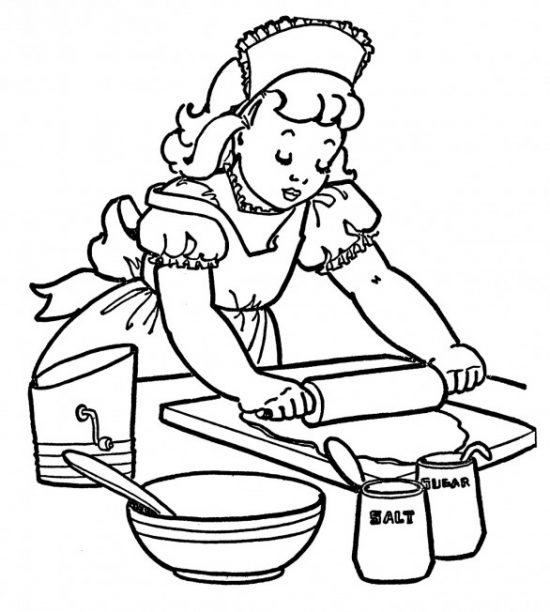 baking coloring page Graphics Fairy
