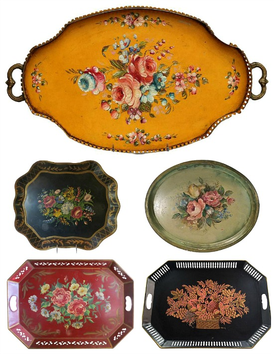 antique-tole-trays