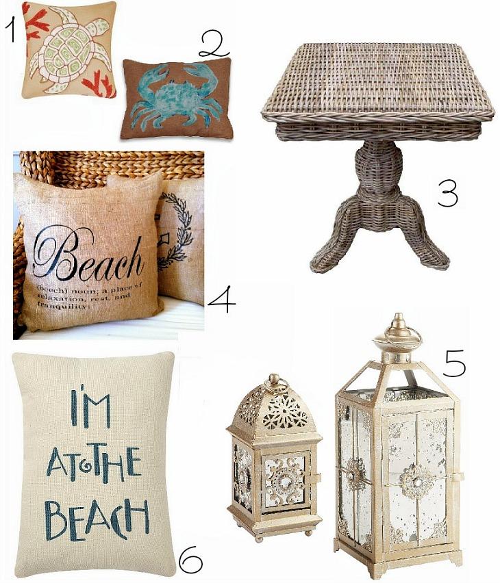 coastal inspired home decor
