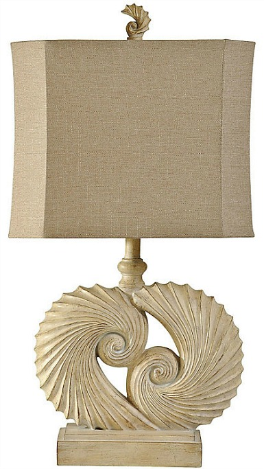nautical shell table lamp