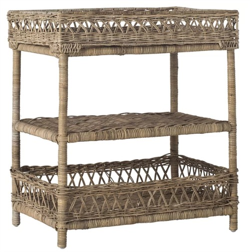 rattan 3 tier stand