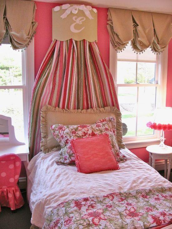 pink checks fabric
