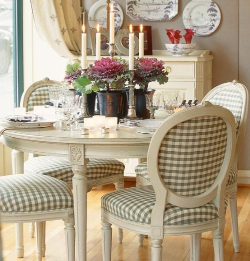 check fabric dining chairs