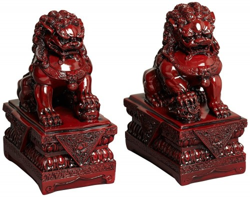 red-foo-dog-statues