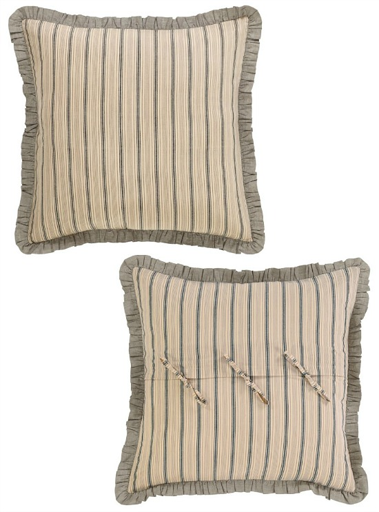 Sawyer Mill Charcoal Fabric Euro Sham