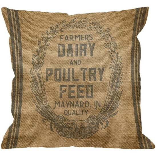 Vintage-Burlap-Feed-Sack-Linen-Square-Cushion-Cover