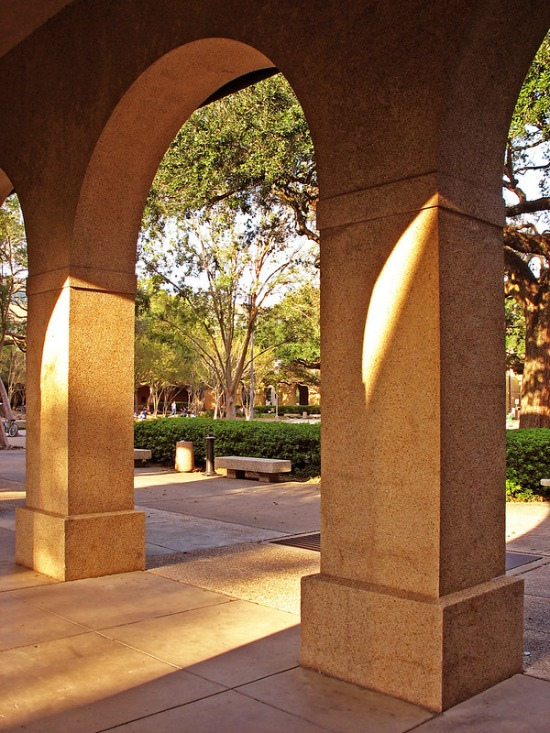 arches at LSU campus