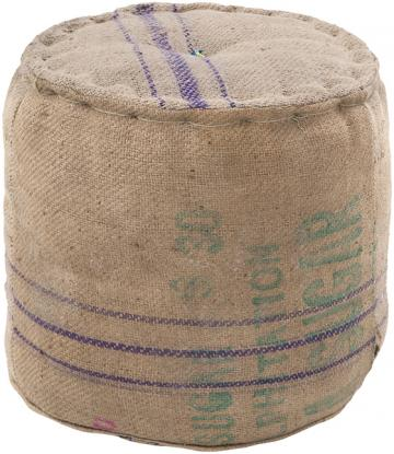 grain sack pouf