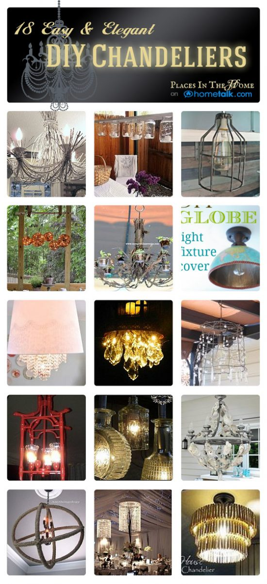 DIY chandelier ideas