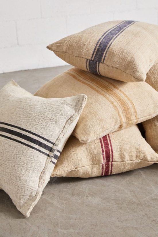 repurposed-grain-sack-throw-pillows