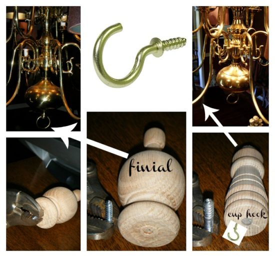 chandelier parts