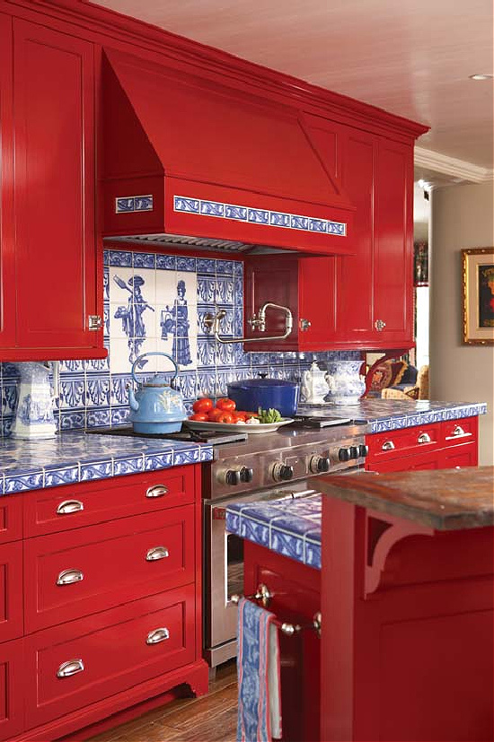 tomato-red-kitchen-cabinets