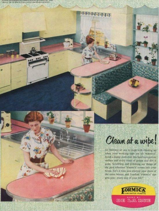 vintage kitchen Formica laminate countertop