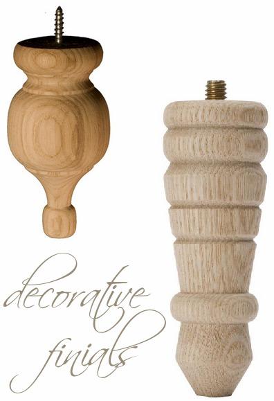 decorative wood finial