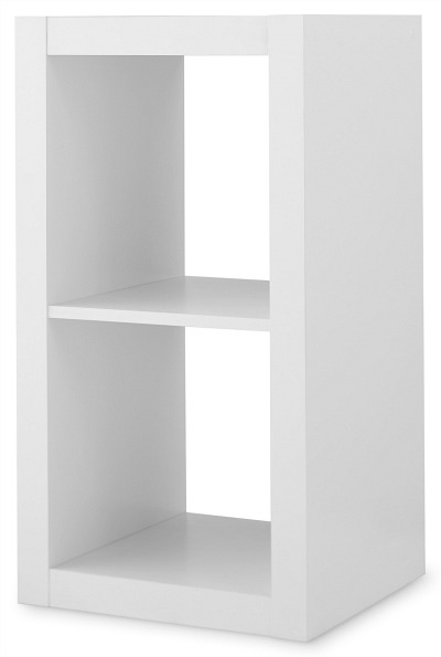 Better Homes & Gardens 2-Cube Storage Organizer, White