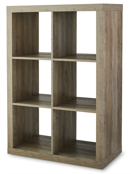 Better Homes & Gardens 6-Cube Storage Organizer, Rustic Gray