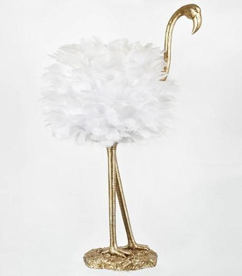 Flamingo Gold & White Table Lamp