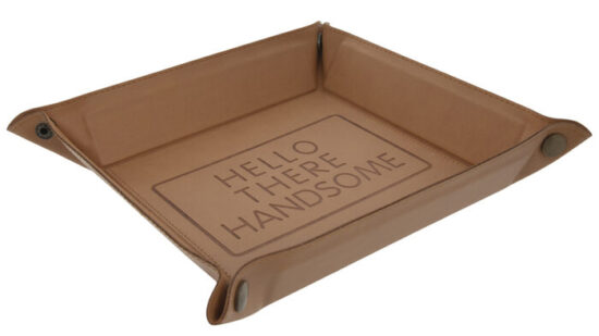 Hello There Handsome Faux Leather Jewelry Dish