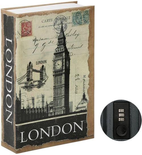 Jssmst Diversion Book Safe with Combination Lock, Secrect Hidden Safe Lock Box