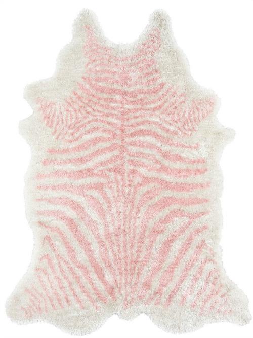 Khalhari+Hand-Tufted+Faux+Fur+Pink+Area+Rug