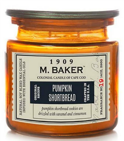 M. Baker pumpkin shortbread candle