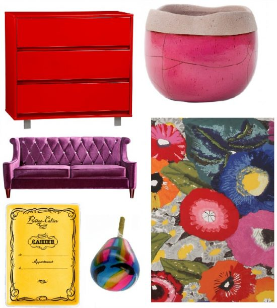 bright colors in home decor