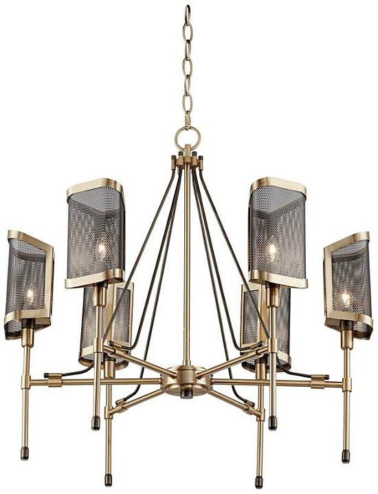 mesh euro industrial chandelier