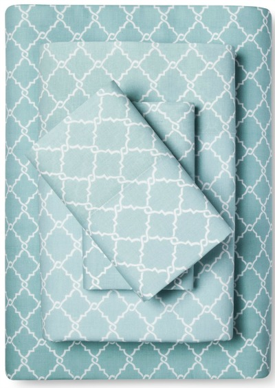 Fretwork Geometric Printed Cotton Sheet Set
