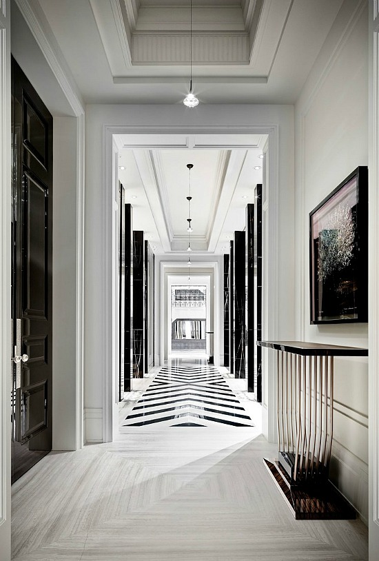 black-white-foyer
